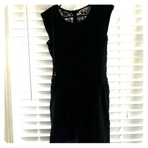Black romper with lace